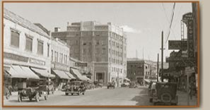 A vintage photo of downtown Klamath Falls